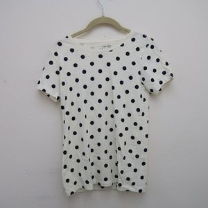 Womens J.CREW Collector Tee Blue Polka Dot Shirt
